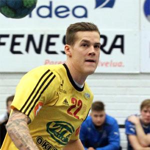 Nico Rönnberg paukutti viisi maalia Cocksille. kuva: Juha Tamminen